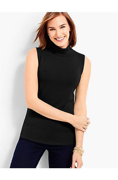 Black Friday Shopping Talbots Sleeveless Turtleneck Sweater